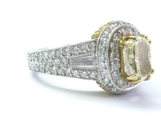 Other 18Kt Oval Fancy Yellow Diamond White Gold Engagement Ring 4.00Ct Image 1