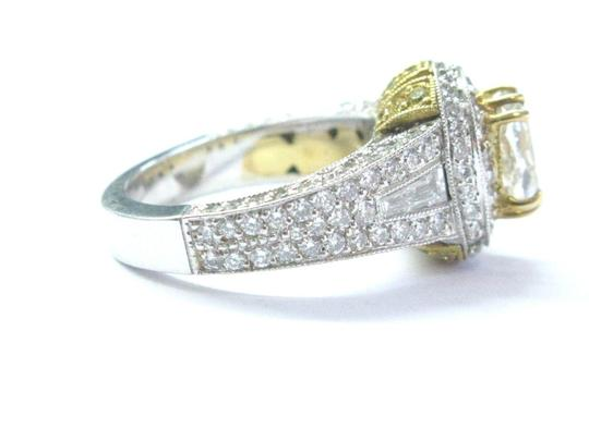 Other 18Kt Oval Fancy Yellow Diamond White Gold Engagement Ring 4.00Ct Image 3