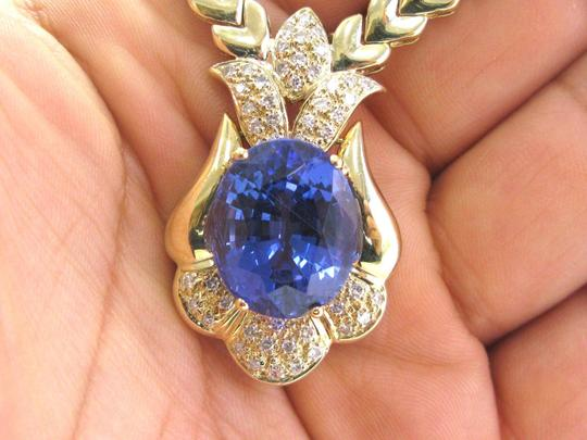 Other Fine Gem Tanzanite & Diamond Yellow Gold Necklace 17