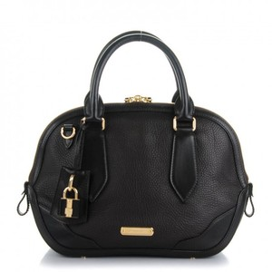 Burberry Leather Satchel in Chocolate