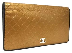 Chanel Matelasse Gold Leather Wallet