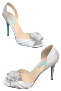 Betsey Johnson Blue Betsey Johnson Emma Satin Wedding Shoes