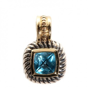 David Yurman DAVID YURMAN Sterling Silver 14k Yellow Gold 7mm Blue Topaz Albion Enh
