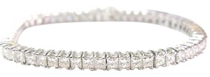 Other Fine 10.25CT Princess Cut Diamond Tennis Bracelet 18KT
