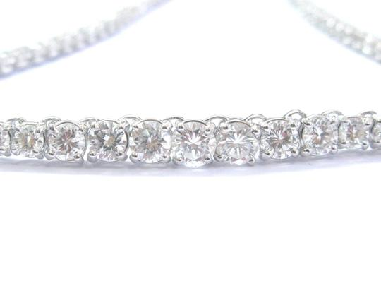 Other 14K 4-Prong Round Cut Diamond Graduated Riviera Necklace Solid White G Image 2