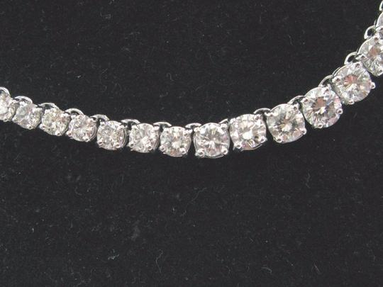 Other 14K 4-Prong Round Cut Diamond Graduated Riviera Necklace Solid White G Image 6