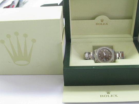 Rolex Rolex Datejust Rhodium Dial SS Oyster Automatic Mens Watch Diamond Dia Image 6