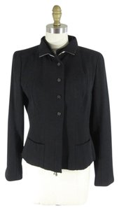 Chanel Wool Silk Black Blazer