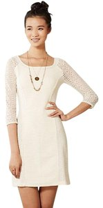 Anthropologie short dress Cream Lace Vintage Zipper on Tradesy