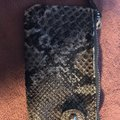 Jessica Simpson coin purse Wristlet in Grey and Black Image 2
