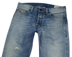 Diesel Boyfriend Distressed Relaxed Fit Jeans-Light Wash