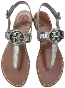 86233246220b Silver Tory Burch Sandals - Up to 90% off at Tradesy