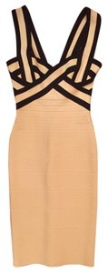 Hervé Leger Date Luxury Midi Sheath Dress