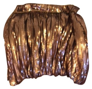 See by Chlo Chloe Mini Bubble Sequined Mini Skirt Bronze/gold