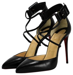 Christian Louboutin Suzanna 100 Nappa Leather Heels Black Pumps