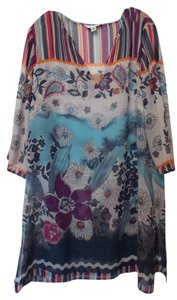 Coldwater Creek New Silk Caftan Oversized 1x Tunic