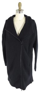 Vince Sweater Asymmetrical Zip Wool Pea Coat