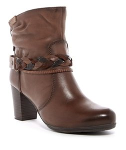 PIKOLINOS Leather Round Toe Braided Strap Suede Ankle CUERO Boots
