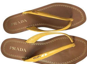 Prada Mustard yellow Sandals