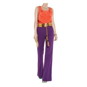 Diane von Furstenberg Wide Leg Pants Royal Purple