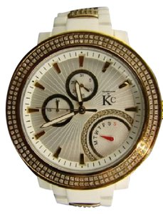 Techno Com by KC Techno Com Kc Jojo White Ceramic Diamond Watch 3.60 Ct