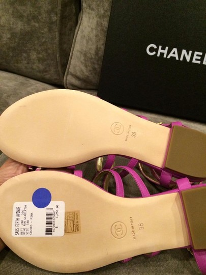 Chanel Jewel Toe Ring Strappy Pink Sandals Image 1