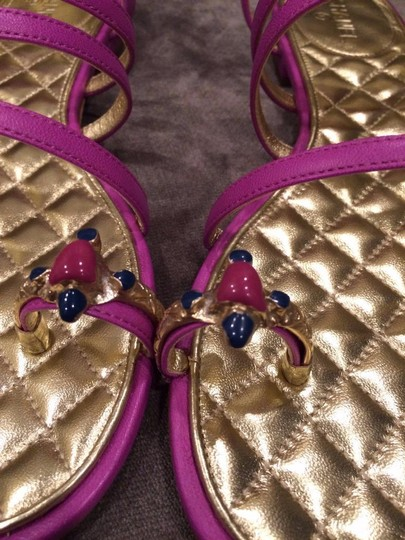 Chanel Jewel Toe Ring Strappy Pink Sandals Image 4