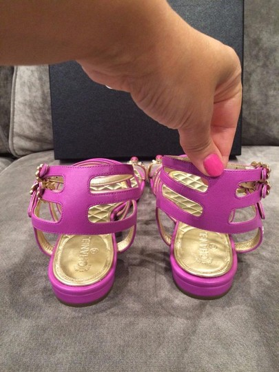 Chanel Jewel Toe Ring Strappy Pink Sandals Image 5