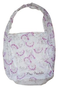 Free People Printed Gauze Beach Summer Tote in ivory