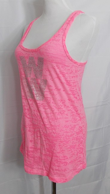 Rubee Couture Burnout Rhinestones Neon Top Pink Image 2