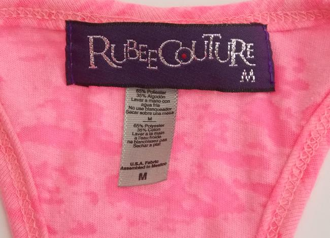 Rubee Couture Burnout Rhinestones Neon Top Pink Image 4