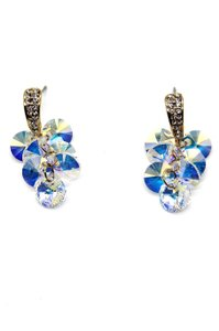Ocean Fashion Shining pendant swarovski crystal gold earrings