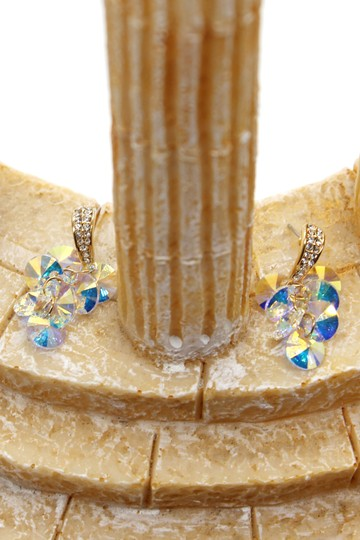 Ocean Fashion Shining pendant swarovski crystal gold earrings Image 2
