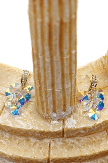 Ocean Fashion Shining pendant swarovski crystal gold earrings Image 3