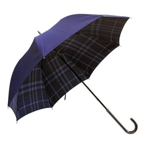 Burberry Midnight Blue Check Lined Walking Umbrella