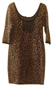 Kensie short dress leopard print on Tradesy