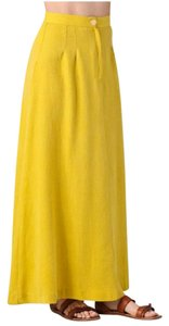 Anthropologie High Wasit Long Maxi Skirt Yellow