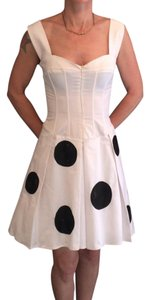 Mara Margo short dress white and black on Tradesy
