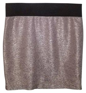 Charlotte Russe Mini Skirt Gold