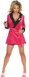 Playboy OFFICIAL PLAYBOY HOT PINK SEXY GIRLFRIEND SMOKING JACKET ROBE XS/S