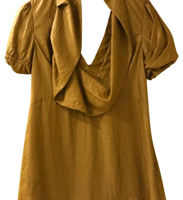 Preload https://img-static.tradesy.com/item/20940865/bcbgmaxazria-mustard-colored-blouse-size-0-xs-0-1-650-650.jpg