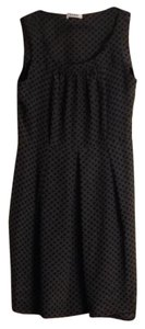 NICOLE FARHI short dress grey with black polka dots on Tradesy