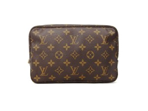 Louis Vuitton Trousse 23 Monogram Canvas Travel Dopp Toiletry Makeup Bag w/ Dustbag