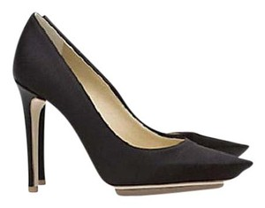 Stella McCartney Satin Pointed Toe High Heels Celebrity Owned Runway Black Pumps