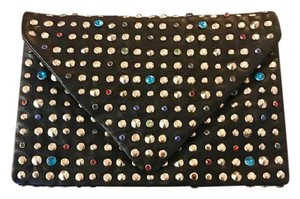 Other Bling Small Rhinestones Clasp Closure black with brass & colored beads Clutch
