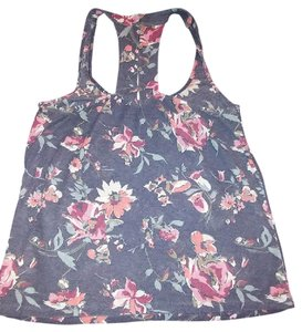 American Eagle Outfitters Medium Racerback Top Blue Floral