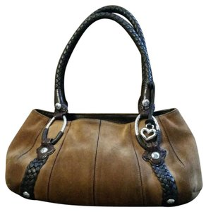 Brighton Suede Leather Vintage Handbag Shoulder Bag
