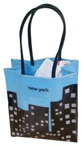 Bloomingdale's Tote in Blue with black