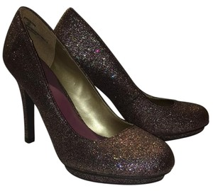 Madden Girl Pump Prom Sparkle Glitter Purple/Multi Platforms