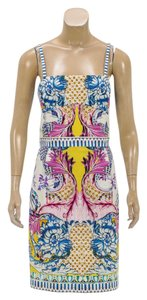 Roberto Cavalli short dress White/Multicolor on Tradesy
